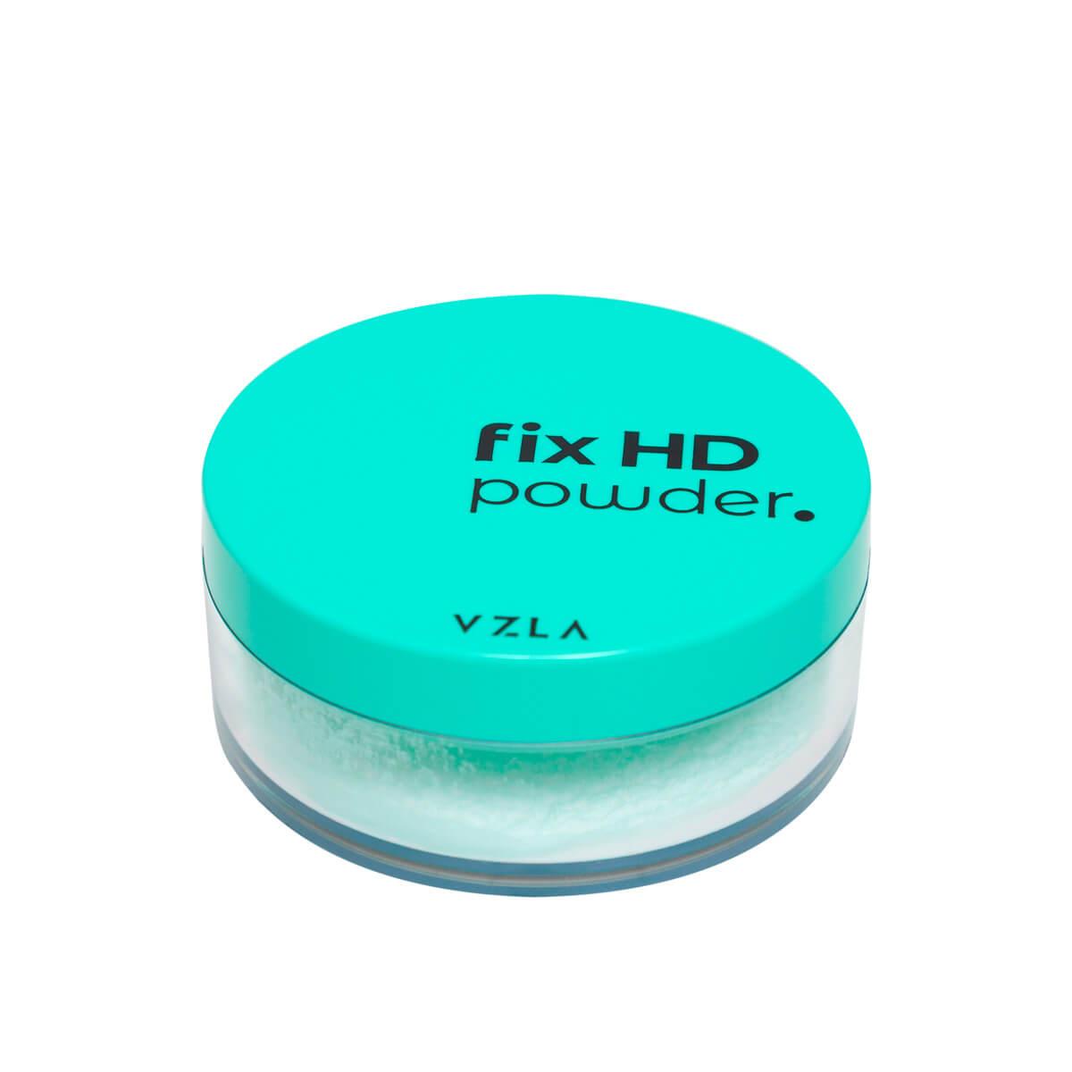 Pó Vegano Vizzela Translúcido Fix HD Powder Pó Fixador Matte