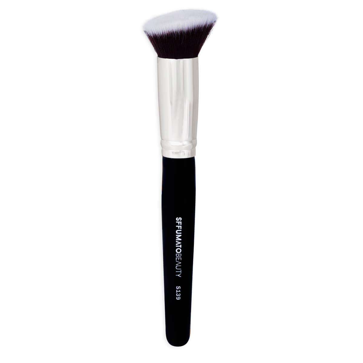 S139 - Pincel Kabuki Angular Profissional Sffumato Beauty