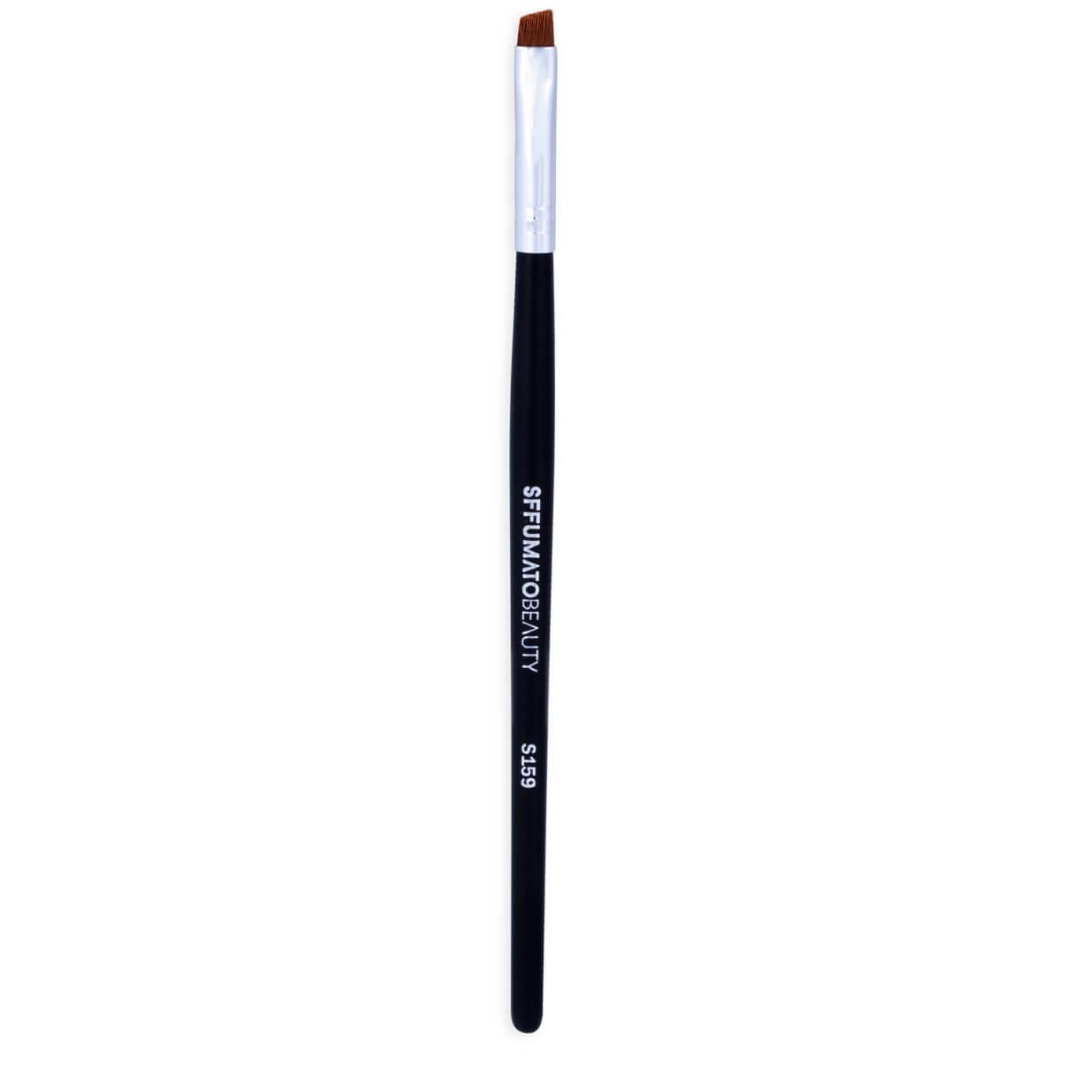 S159 - Pincel Chanfrado Para Delinear Pequeno Profissional Sffumato Beauty