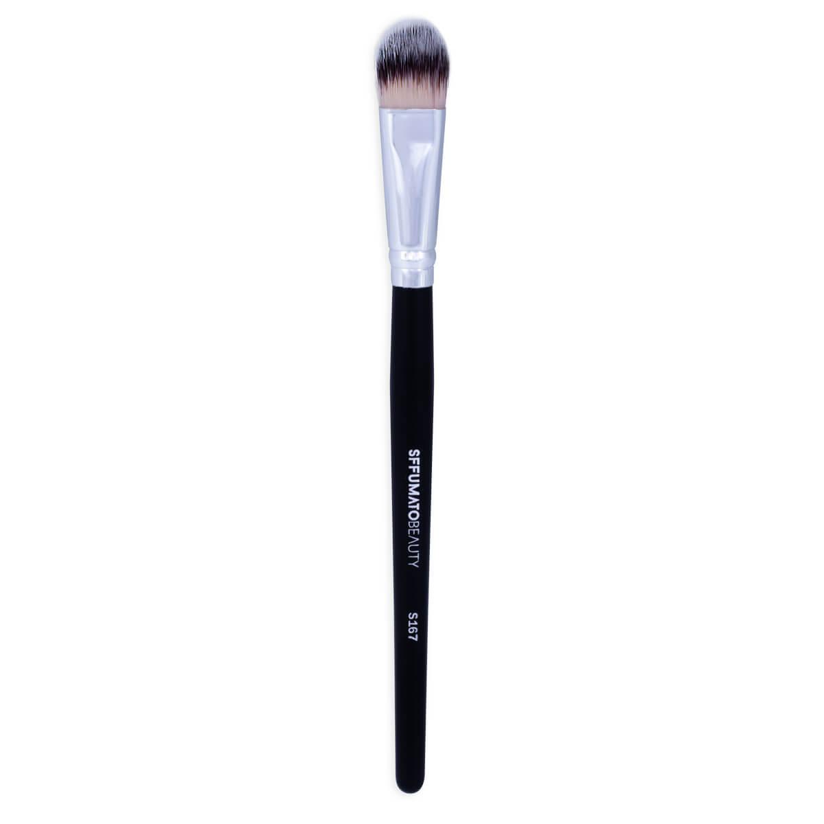 S167 - Pincel Para Base Língua De Gato Médio Profissional Sffumato Beauty