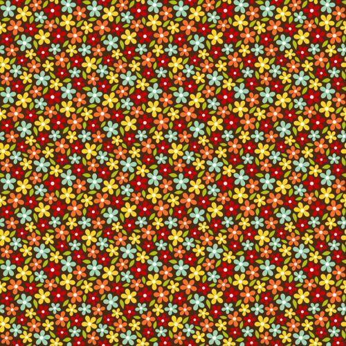 Papel Scrapbook 10 folhas com Estampa Floral (30,5cm x 30,5cm)