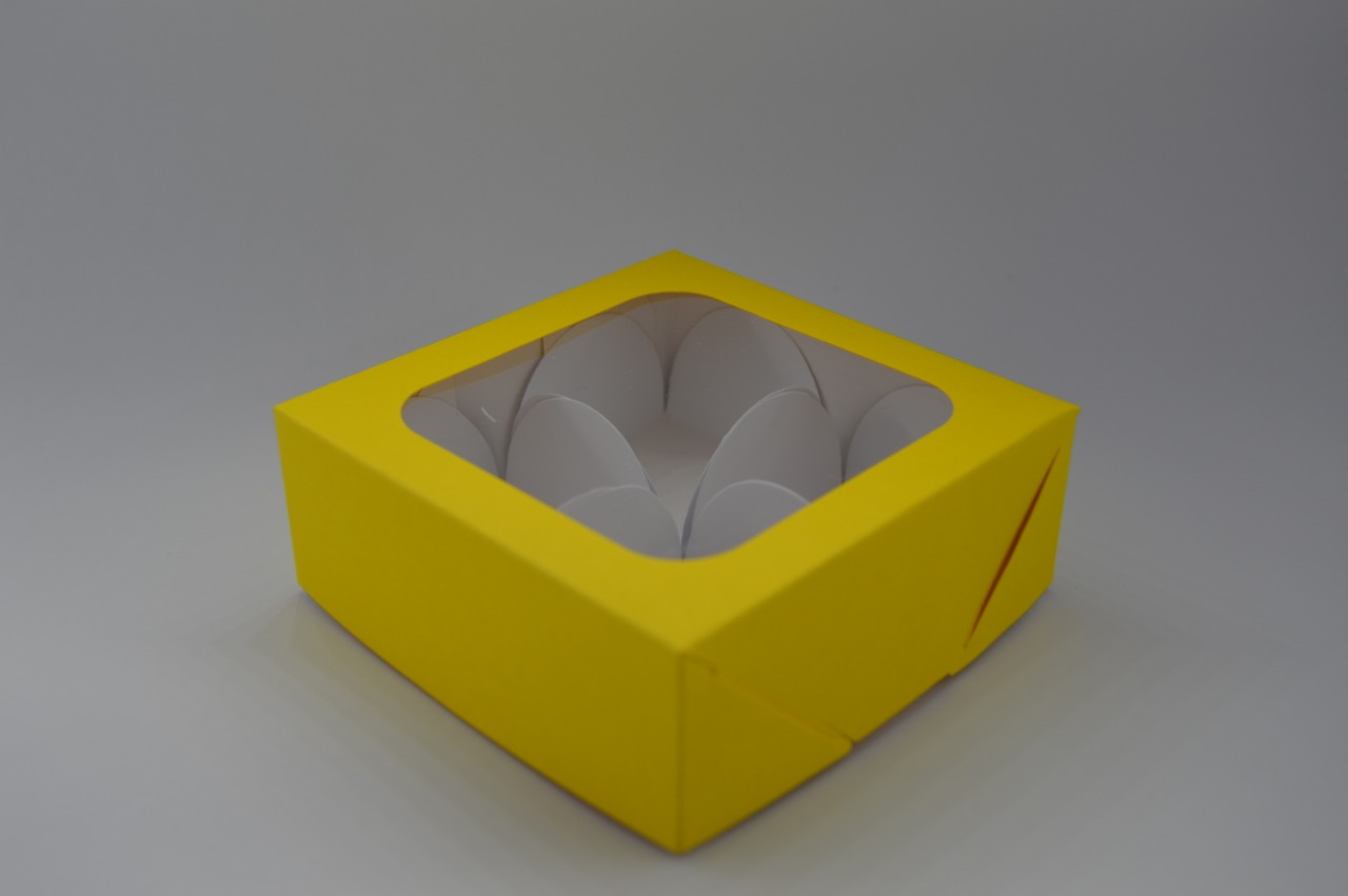 Caixa de Papel com visor amarela 10 unidades