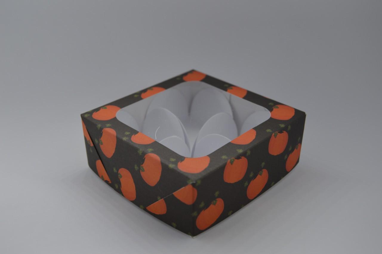 Caixa de Papel com visor halloween 10 unidades