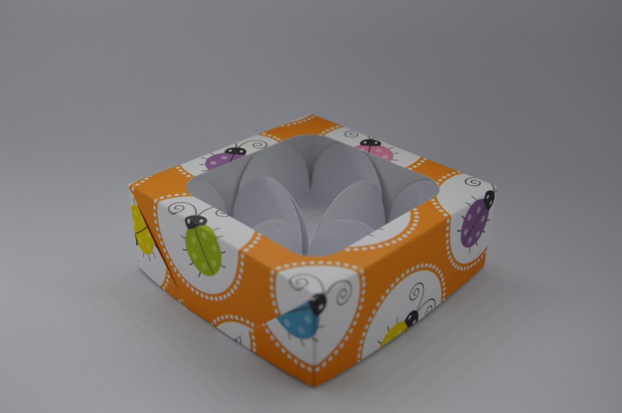 Caixa de Papel com visor joaninha 10 unidades