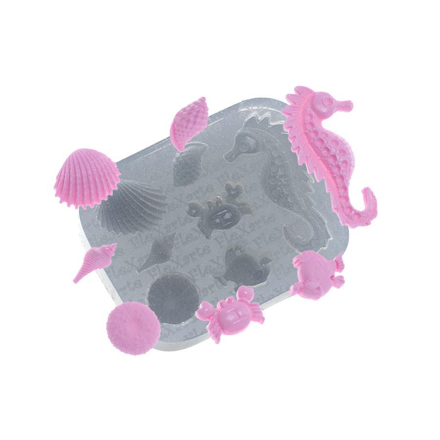 Molde de Silicone Flexarte - Categoria Fundo do Mar