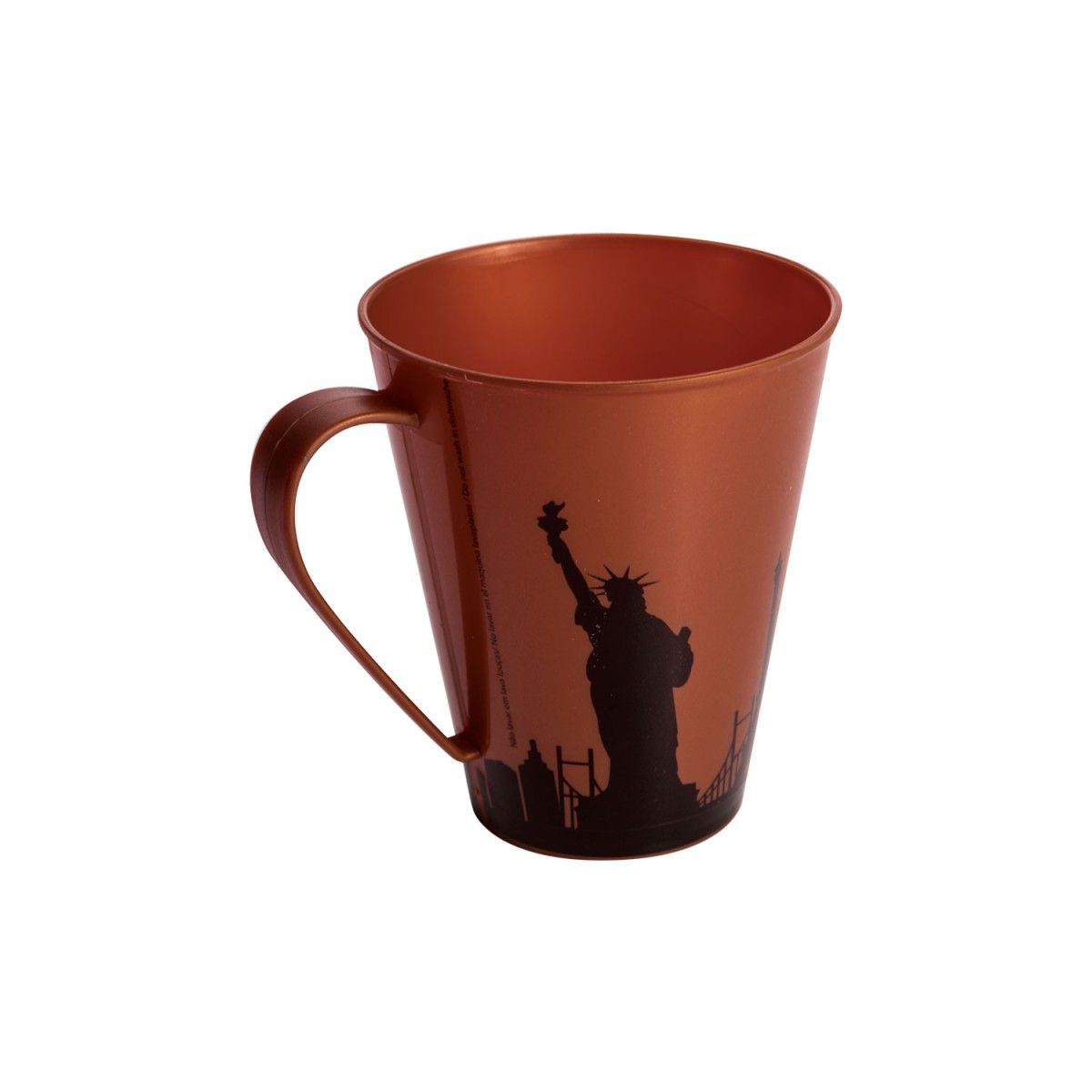 Caneca Plastica Decorada Cobre 360 ML Plasutil