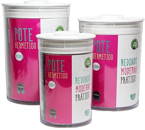 Conjunto 3 Pote Hermetico Redondo - ECO-726 - Gedex