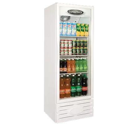 ERV-400 Expositor Refrigerador Vertical de Bebidas 400L Branco Conservex
