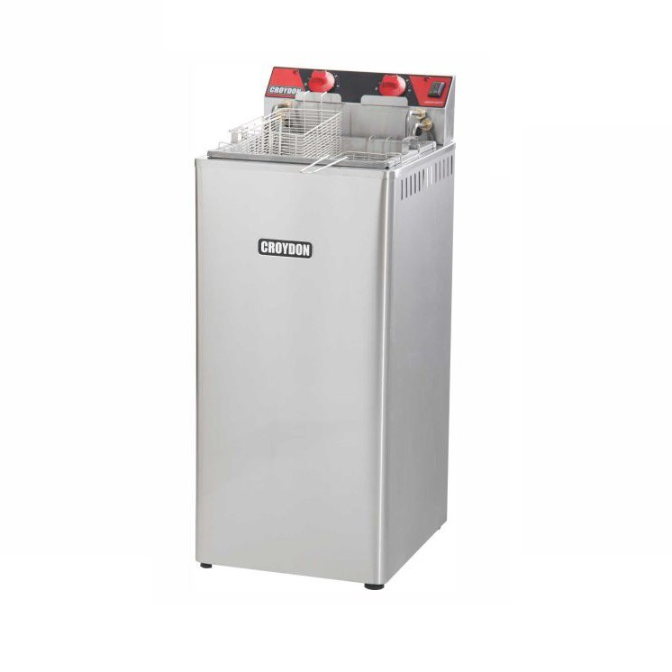 FA28 Fritadeira Eletrica Industrial de Gabinete 8000W Agua e Oleo Croydon