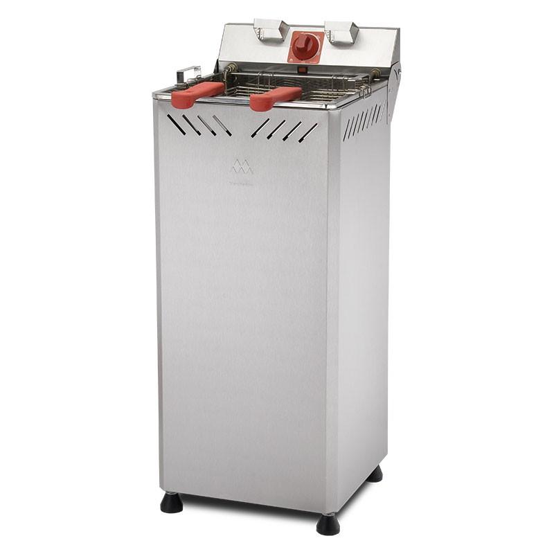 Fritadeira Eletrica Industrial Agua e Oleo de Gabinete 25L Marchesoni