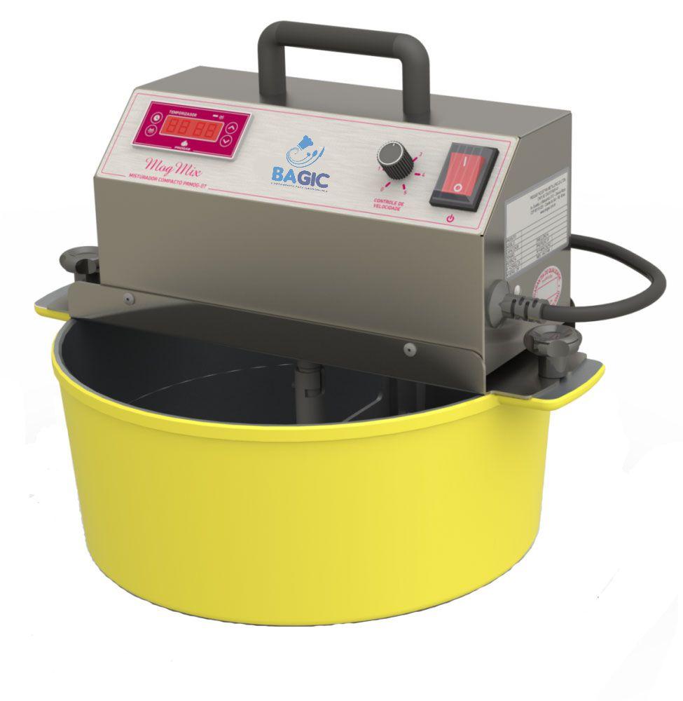 Panela Alumínio Mexedora de Brigadeiro e Recheios Bivolt 32 cm Amarela Bagiquinha
