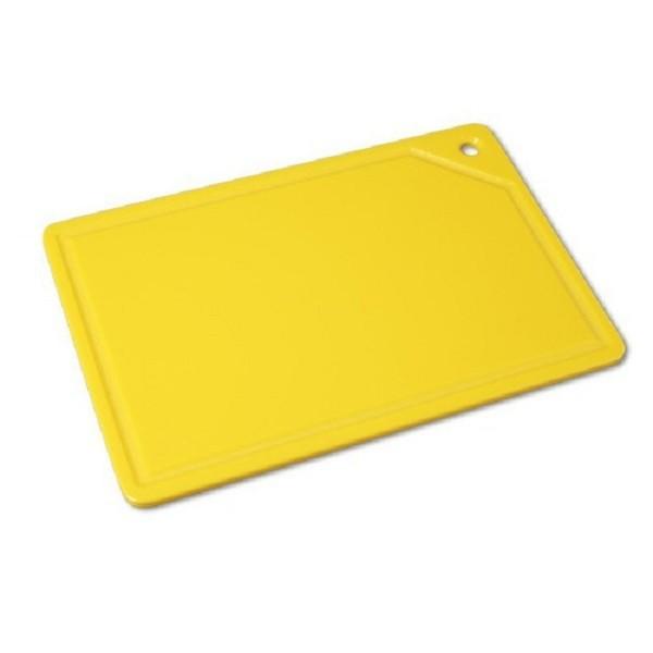 Tabua Placa de Corte Polietileno Canaleta 37x25x1 Amarela Cod. 165 Pronyl