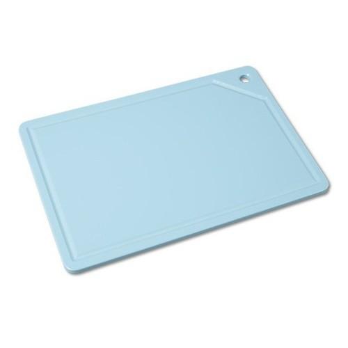 Tabua Placa de Corte Polietileno Canaleta 37x25x1 Azul Cod. 163 Pronyl