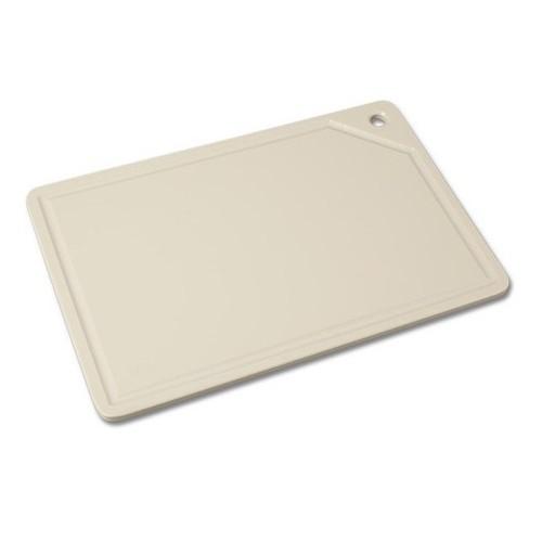 Tabua Placa de Corte Polietileno Canaleta 37x25x1 Bege Cod. 164 Pronyl