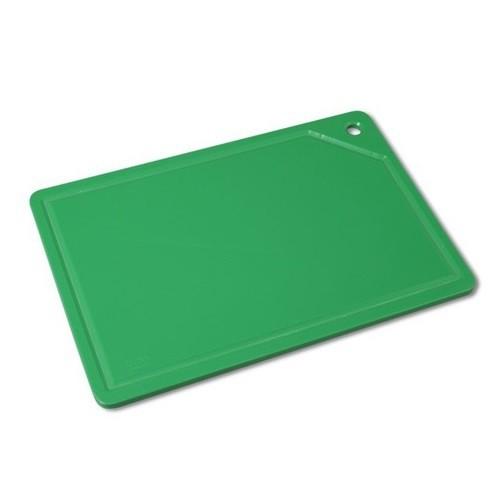 Tabua Placa de Corte Polietileno Canaleta 37x25x1 Verde Cod. 162 Pronyl