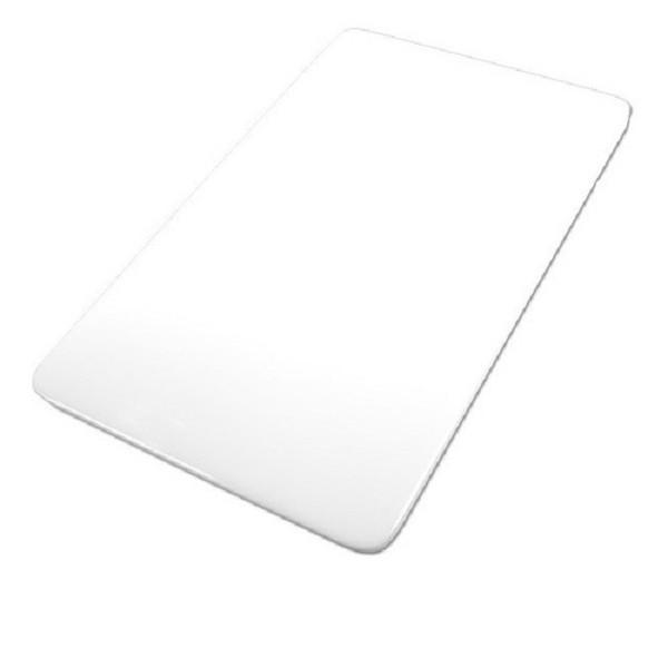 Tabua Placa de Corte Polietileno Carne 50x30x0,8 Branca Cod. 91 Pronyl