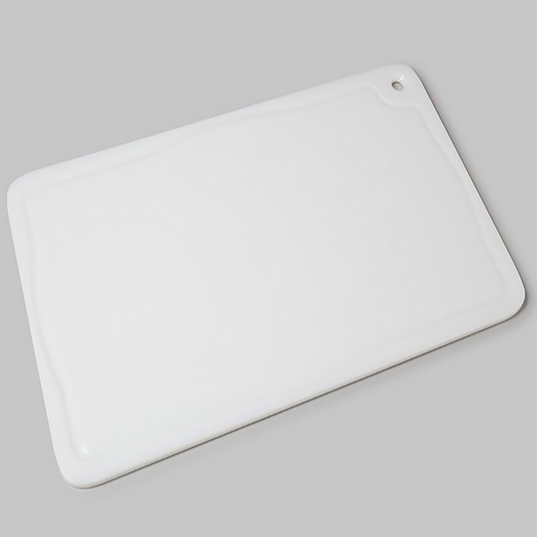 Tabua Placa de Corte Polietileno Carne 50x30x1 Branco Cod. 160 Pronyl
