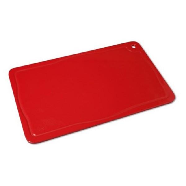 Tabua Placa de Corte Polietileno Carne 50x30x1 Vermelha Cod. 155 Pronyl