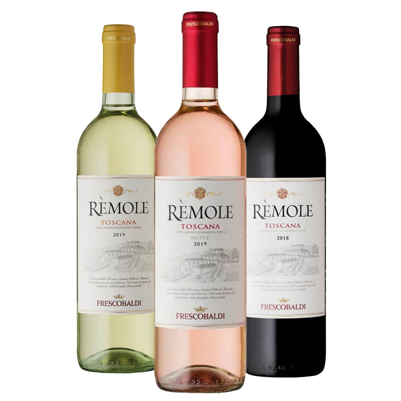 Kit #32 - Frescobaldi Remole Toscana IGT (Bianco, Rosato e Rosso)