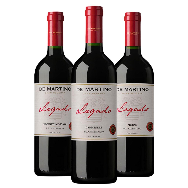 Kit #34 - De Martino Legado Gran Reserva - Cabernet Sauvignon,  Carménère e  Merlot