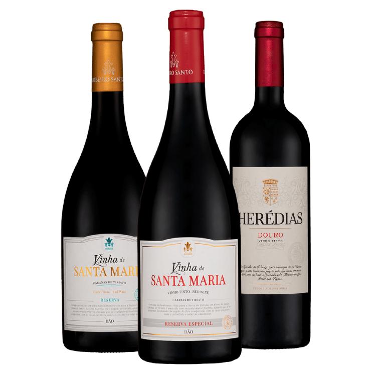 Kit #39 - Vinha de Santa Maria Reserva Tinto, Vinha de Santa Maria Reserva Especial e Quinta das Herédias