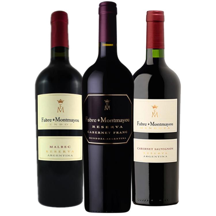 Kit Fabre Montmayou Reserva Mendoza (Malbec + Cabernet Franc + Cabernet Sauvignon)