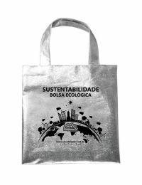 Bolsa Ecobag 30x30cm em tecido TNT Metalizado