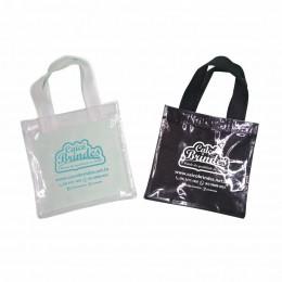 Bolsas com Visor Transparente em Tecido TNT 080g 18x18cm Personalizada em 1 cor
