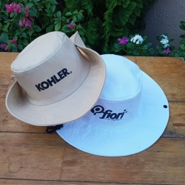 Chapéus Australiano Personalizado Pintado Frente e Traseira