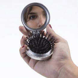 Espelho de Bolsa Com Escova Personalizado Colorido