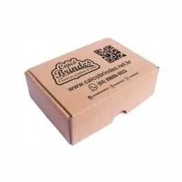 Kit 50 Caixas de Papelão Personalizadas para Envio dos Correios e E-commerce 20x16x5cm Montável C50