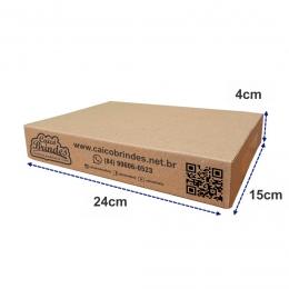 Kit 50 Caixas de Papelão Personalizadas para Envio dos Correios e E-commerce Mini Pac 24x15x4cm Montável C61