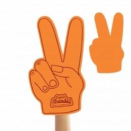 Mão de Torcida Personalizada - Mão 2 dedos impressão 1 lado