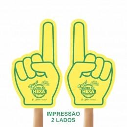 Mão de Torcida Personalizadas - Mão 1 dedo impressão 2 lado