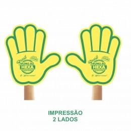 Mão de Torcida Personalizadas - Mão aberta impressão 2 lado