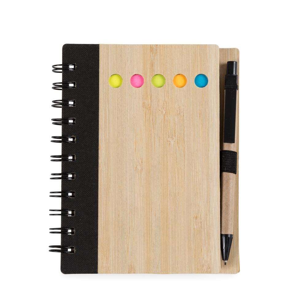 Bloco de Anotações Bambu com Caneta Personalizado