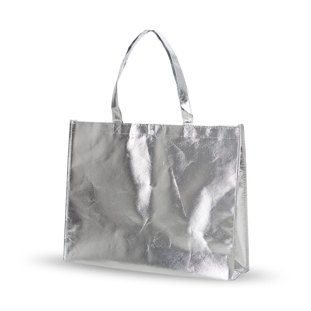 Bolsa Ecobag 40x50x14cm em tecido TNT Metalizado