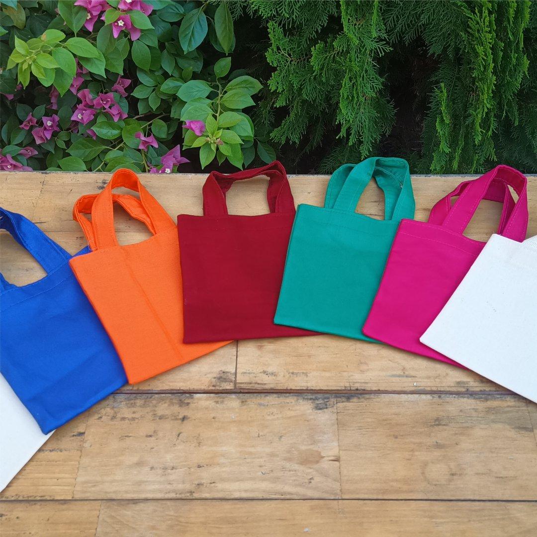 Bolsas em Tecido Brim Leve 100% Algodão 20x30cm Personalizada em 1 cor
