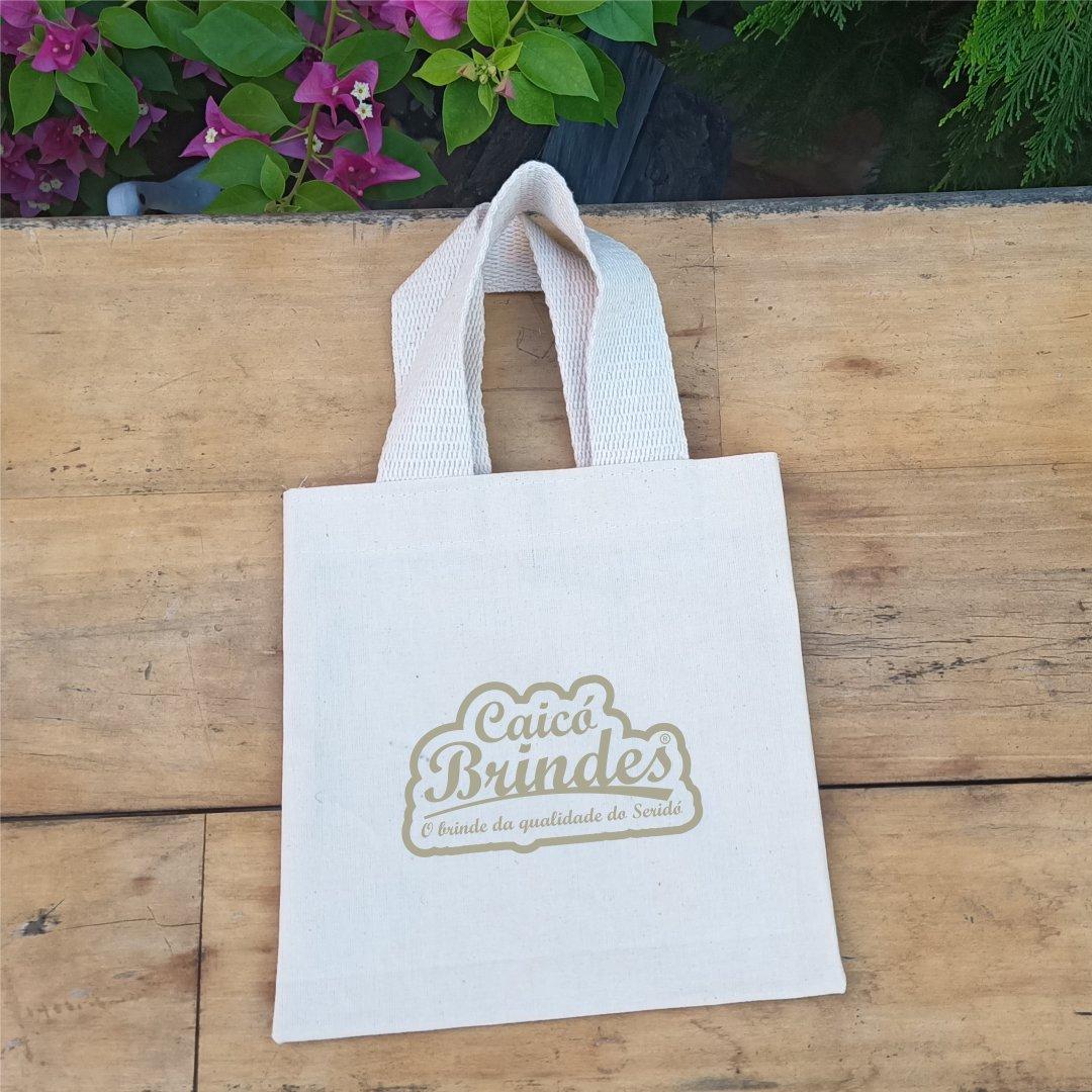 Bolsas em Tecido Brim Leve 100% Algodão 23x34cm Personalizada em 1 cor