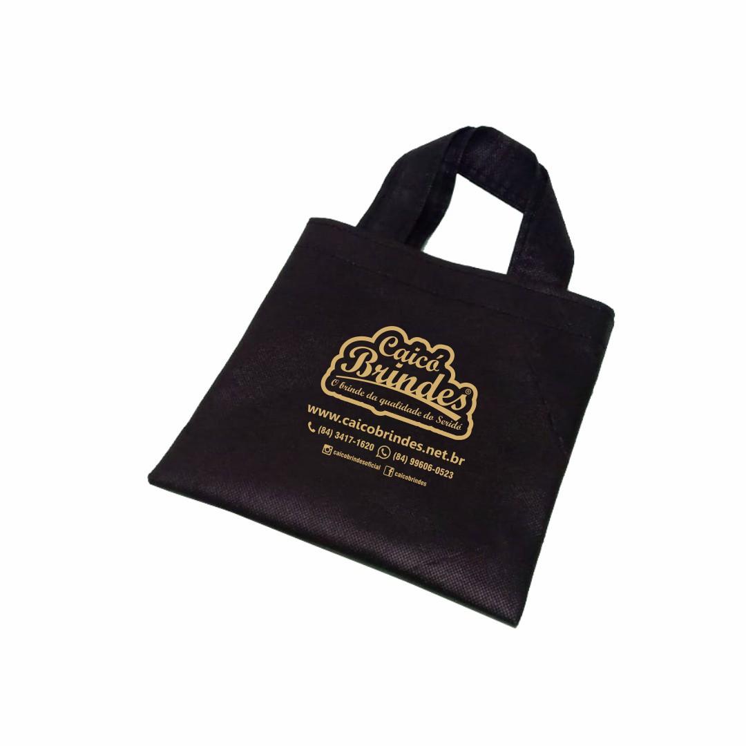 Bolsas em TNT 080g 18x18cm Personalizada em 1 cor