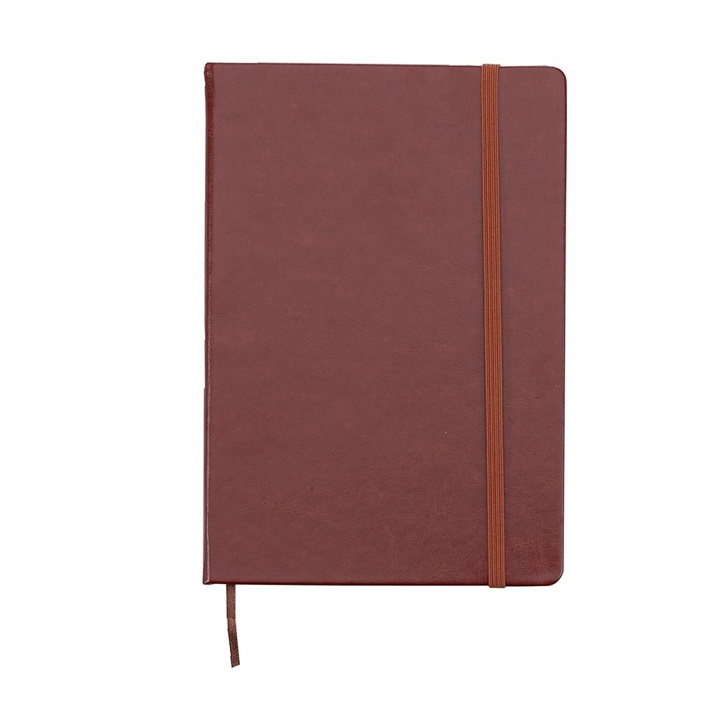 Caderneta tipo Moleskine de Couro Sintético 21X14cm Personalizada