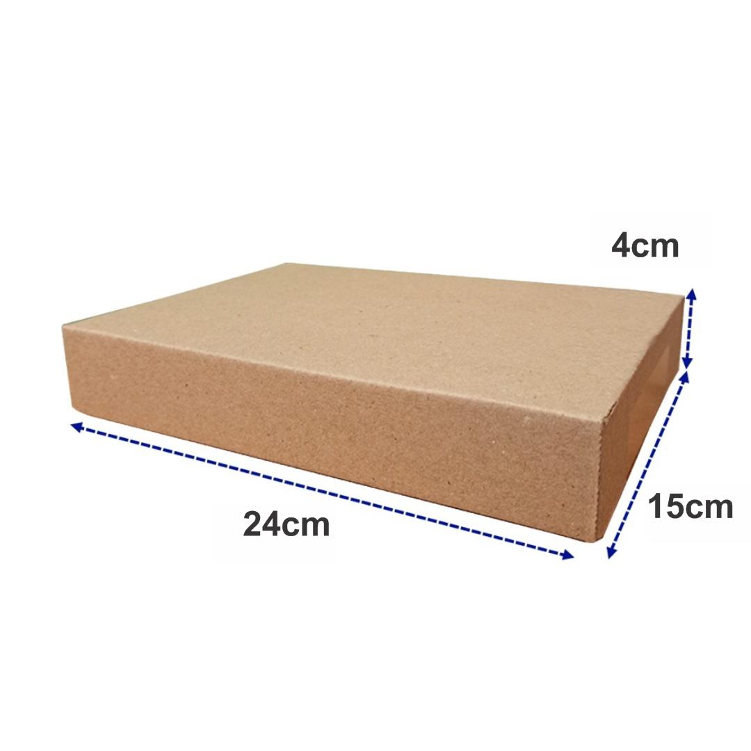 Caixa de Papelão Lisa para Envio dos Correios e E-commerce Mini Pac 24x15x4cm Montável C61