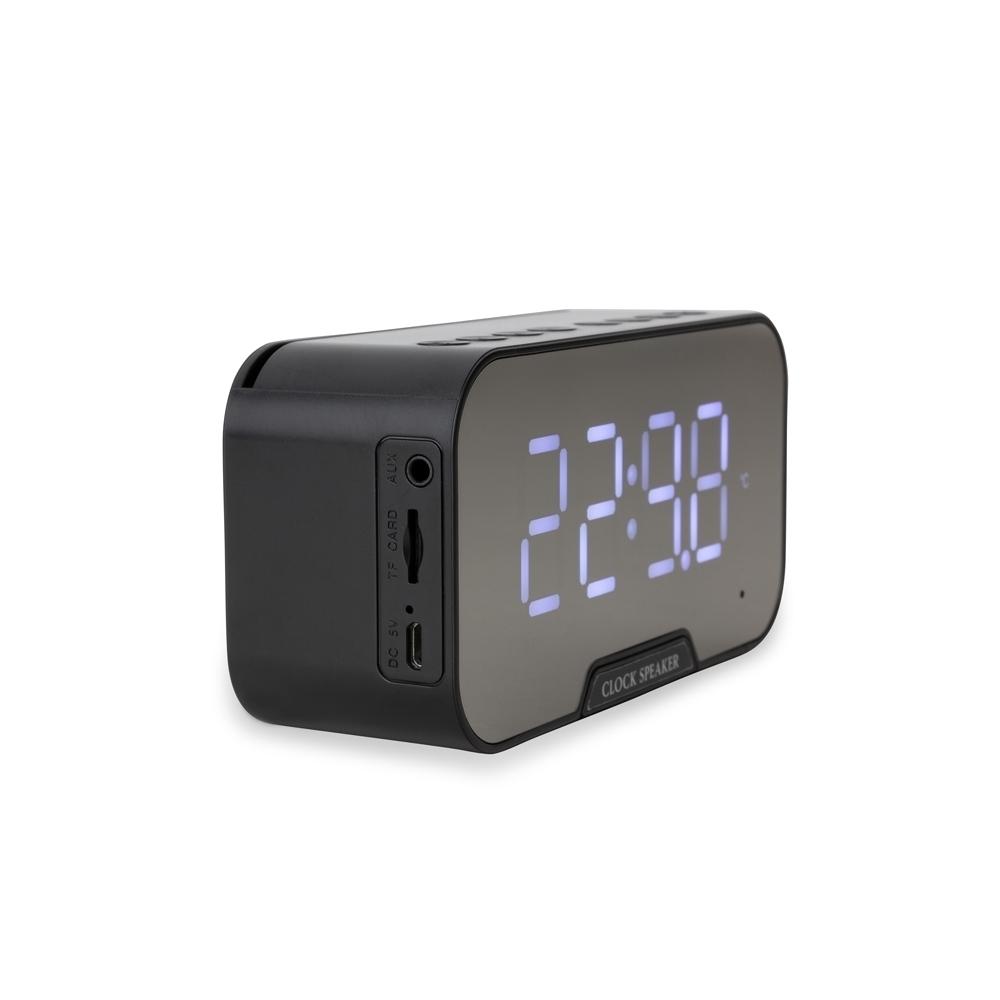 Caixa de Som Multimídia com Relógio e Suporte para Celular - Ref.: 03019