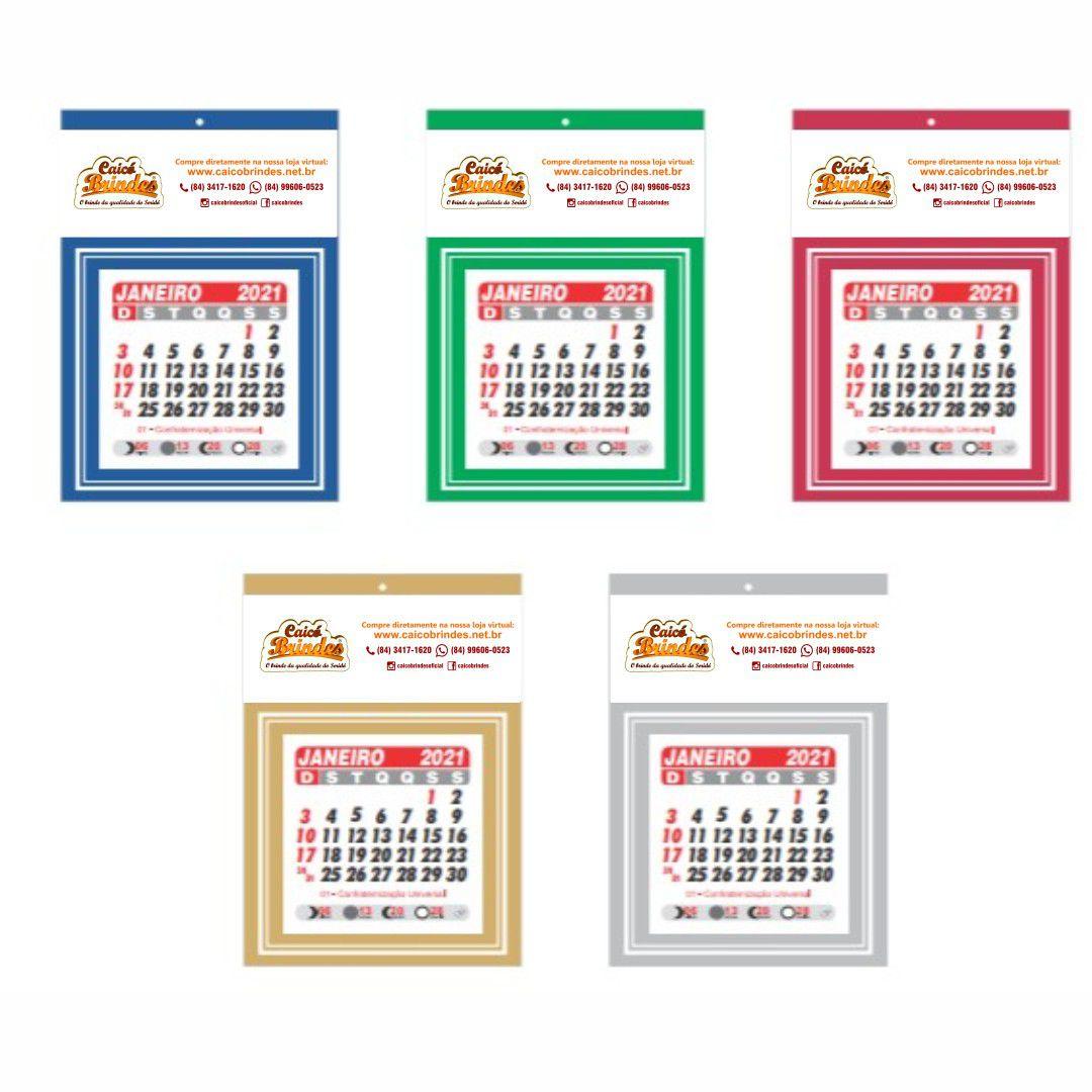 Calendário Comercial Personalizado C/ Sua Logo Impressão Colorida