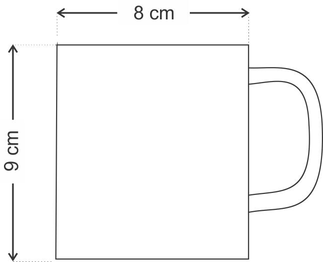 Caneca de Plástico 320ML Personalizada Impressão Colorida