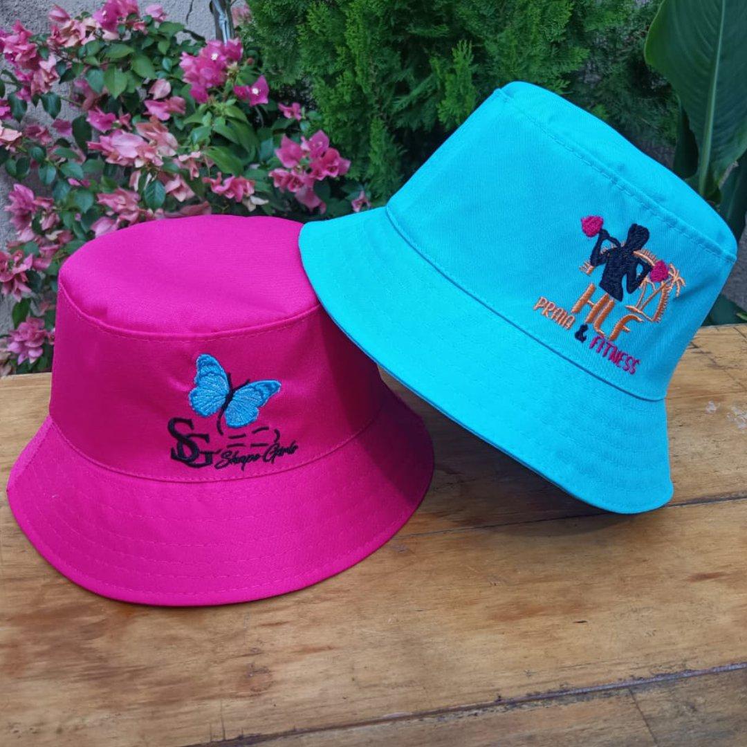 Chapéu Bucket em Tecido Brim Personalizado Com Sua Logo - Bordado