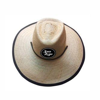 Chapéu de Palha Beach Praia Personalizado Com Sua Logo