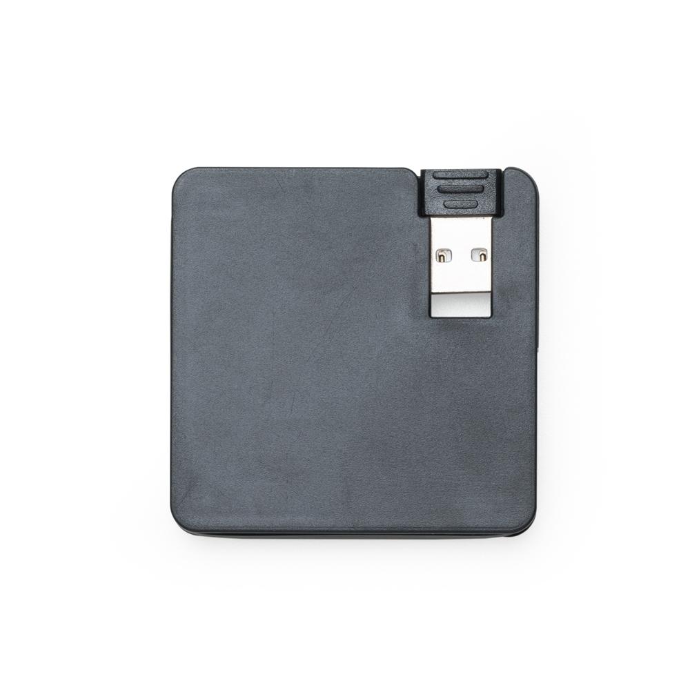 Hub Plástico Quadrado com 4 Entradas USB Personalizado