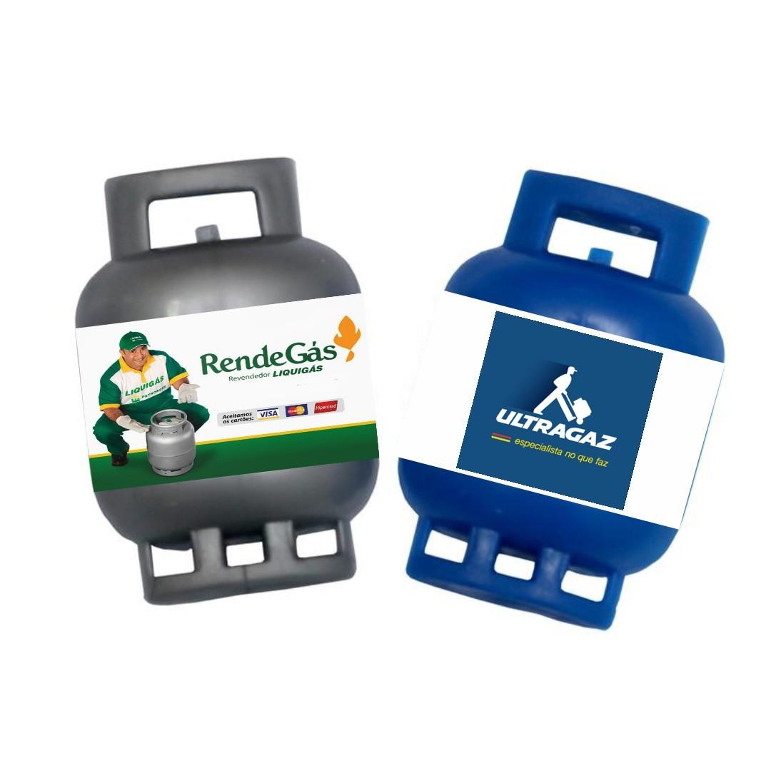 Imã de Geladeira Gás Personalizado com Sua Logo Impressão Digital