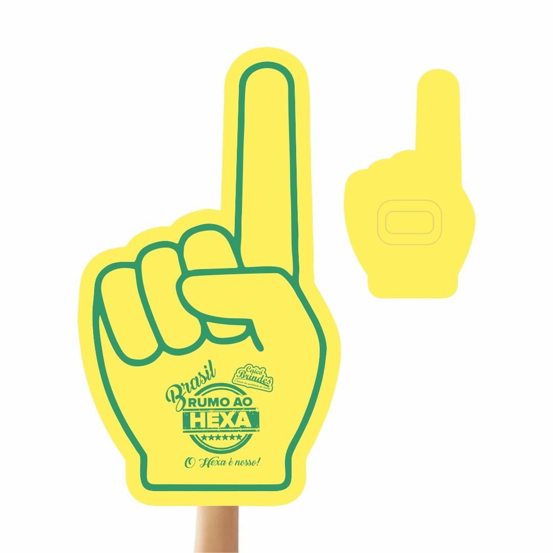 Mão de Torcida Personalizadas - Mão 1 dedo impressão 1 lado